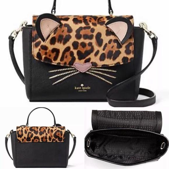 bab02c376d64 Kate Spade NY Run Wild Cheetah Purse Kerrie Cat NWT